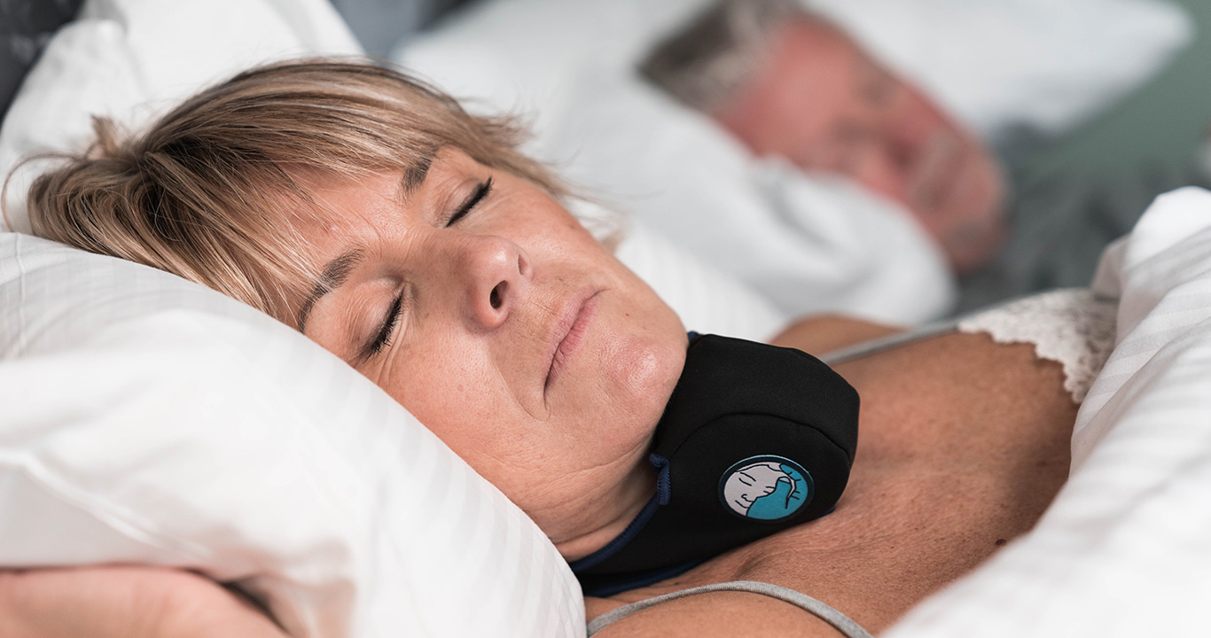 Woman sleeping well with SleepTight